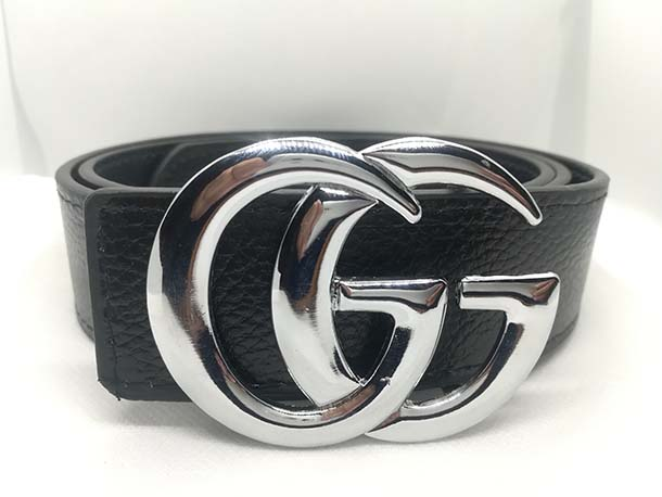 Gucci Silver Buckle Stylish Leather Belt For Men